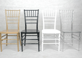 Tiffany Chairs Clear/ White / Gold